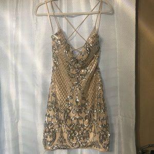 Windsor Nude & Silver Dress
